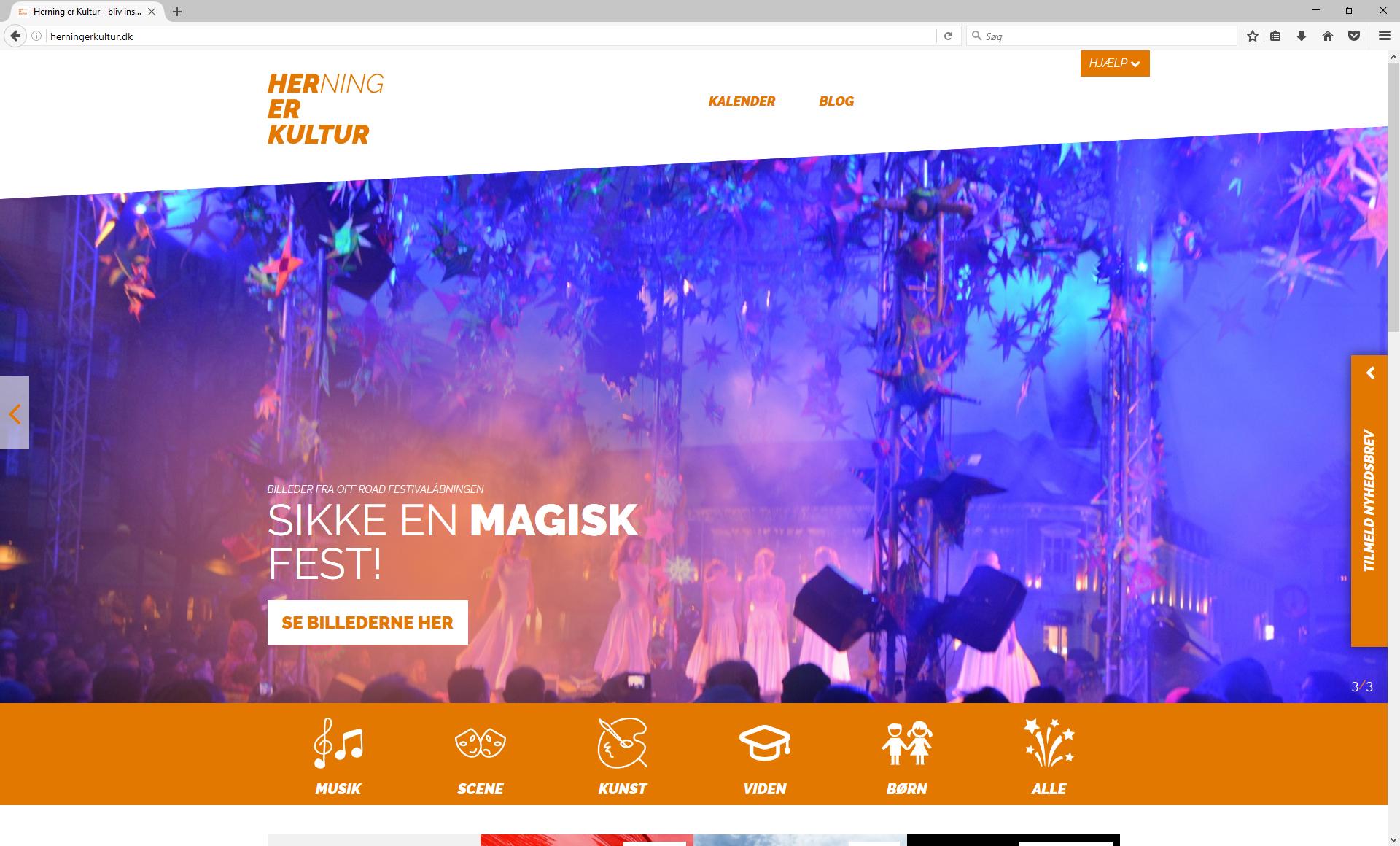 Herning er Kultur Website