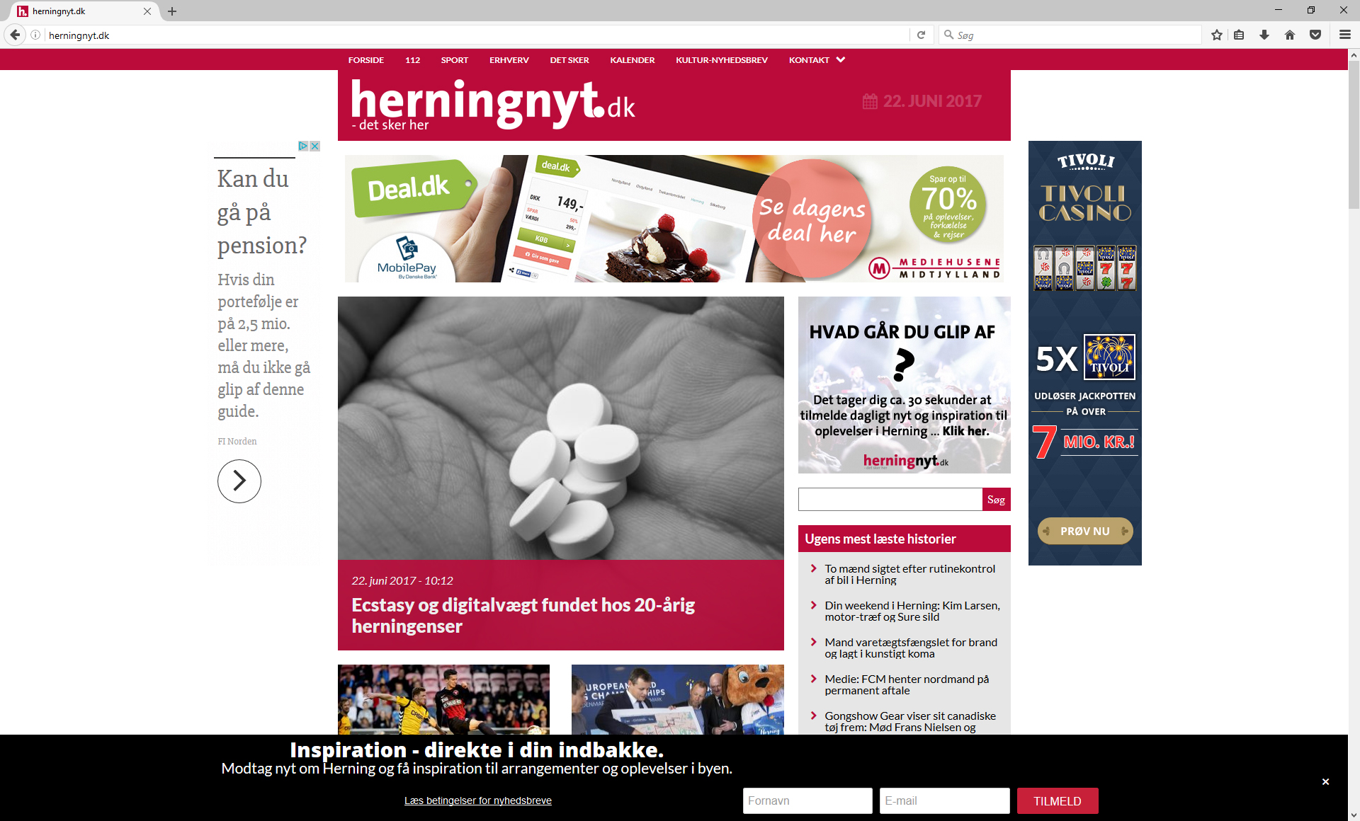 Herningnyt.dk Website